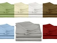 100% Percale Cotton 4pc Pillow Bed Sheet Set 800 Thread Count - Easy Fits Deep