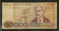 BRAZIL-BANCO CENTRAL DO BRASIL 50,000 CINQUENT MIL CRUZEIROS *9751A PAPER MONEY