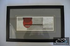 Abstract Grey White and Red Black Framed Picture Modern Art