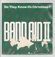 """BAND AID 2 II Vinyl 45 tours SP 7"""" DO THEY KNOW IT'S CHRISTMAS ? POLYDOR 873646"""
