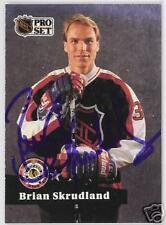 BRIAN SKRUDLAND 1992 PRO SET Montreal Canadiens   AUTOGRAPHED HOCKEY CARD JSA