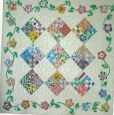 Flossie's Four Patch Quilt Pattern by Chicken Soup Dsgn