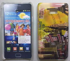 COVER CUSTODIA SAMSUNG GALAXY S II I9100 CARTOLINA LONDON - NEW YORK - PARIS