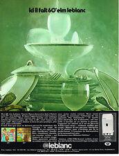 PUBLICITE  1971   ELM  LEBLANC  chauffe-eau