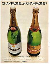 PUBLICITE  1967    MERCIER  champagne   bon & grand
