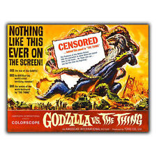 GODZILLA VS. THE THING METAL SIGN WALL PLAQUE Retro Film Movie Advert poster