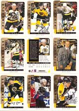 1996-97 Pinnacle BAP Be A Player Signature Boston Bruins Team Set (9)