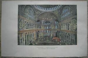 1887 Reclus print HAGIA SOPHIA AS MOSQUE, ISTANBUL, TURKEY (#74)