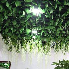 5 X 2.4m Garland Plants Grape Leaves Vine Fake Silk Leaf Foliage Home Decor New