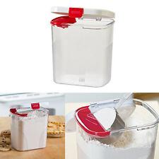 Flour Sugar Airtight Dry Food Storage Keeper Canister Built in Leveler 3.8 Quart