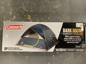NEW COLEMAN 6 PERSON DARK ROOM 1262673 WEATHERTEC TENT FREE SHIPPING