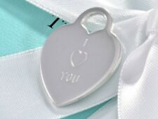 Tiffany & Co Sterling Silver I Love You Two Double Heart Charm Pendant Valentine