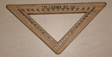 "5"" Triangle 1/3 Inch Lace Sett Weaving Loom from Tri-looms by Jim"