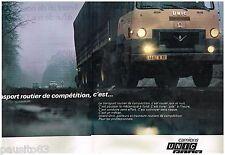 PUBLICITE ADVERTISING 105  1967  UNIC-FIAT  camions poids- lourds IZOARD (2p)