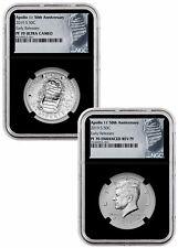 2019 S Apollo 11 2-Coin Clad Half Dollar Set NGC PF70 ER Black Core SKU57114