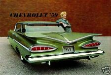 "5x7"" photo REPRINT GM CHEVROLET ADVERTISING GREEN 1959 ART CARD GLOSSY"