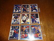 1995/96 BOWMANS BASE HOCKEY SET 1-165