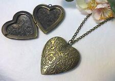 Bronze Modeschmuck-Halsketten & -Anhänger mit Herz-Schliffform