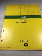 John Deere 321 Flight Elevator Parts Catalog