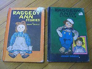 RAGGEDY ANN & ANDY STORIES (2-4-1) Johnny Gruelle, Bobbs-Merrill, IA - 1960/61