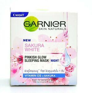 50ml GARNIER SKIN NATURALS SAKURA NIGHT WHITE PINKISH RADIANCE SLEEPING ESSENCE