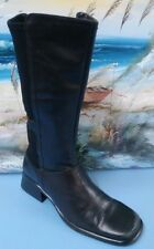 Worthington Black Leather Boots with zip Womens Sz 7.5M