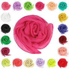 10 Colors Fashion Soft Women Girls Chiffon Silk Slim Scarf Bandana NEW H OAU