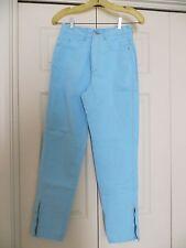 womans skinny jeans pants blue cotton 31/28 Chemin de Fer high waist 1980's