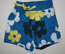 New Next UK Blue with Flower Print Shorts Size 3T 4T Years 104  NWT Ribbed Waist