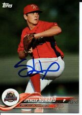 Spencer Howard Williamsport Crosscutters 2018 Topps Pro Debut Signed Card