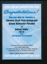 ANTHONY SEIGLER AUTO 2018 Bowman Chrome Draft GREEN REFRACTOR REDEMPTION #/99 RC
