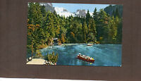 SwitzerlandBlue Lake Berner Oberland 1950's card unposted