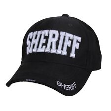 Sheriff Black Low Profile Adjustable Cap Sheriff Embroidered Baseball Hat 99385