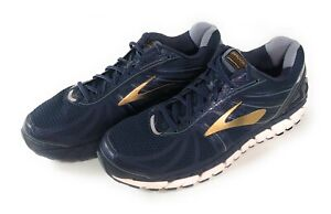 Brooks Beast 16 Athletic Running Shoes Mens Size 14 2E Wide Width Blue Gold