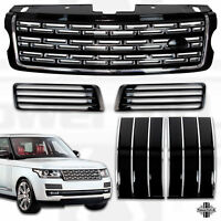 Front grille for L405 Black Chrome LWB Autobiography style side vent duct kit