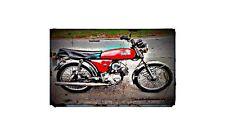 1985 yb100 Bike Motorcycle A4 Retro Metal Sign Aluminium