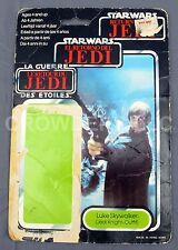Star Wars RotJ Luke Skywalker Jedi Knight Outfit RARE Spanish/French Cardback 83