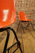 ORIGINAL CHARLES EAMES FIBERGLAS SIDE CHAIR STUHL DSX Herman Miller ORANGE 1/10