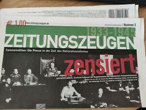 Zeitungszeugen Nr. 3 Das Ende der Demokratie - Sondernummer ohne Dokumente