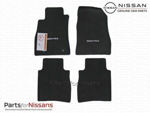 Genuine Nissan 2013-2018 Sentra Black Carpeted Floor Mats Front & Rear Set Of 4