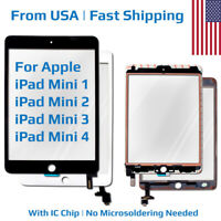 Replacement Glass Display Touch Screen Digitizer for Apple iPad Mini 1 2 3 4