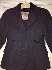 Harris tweed designer girls jacket age 7 8 9