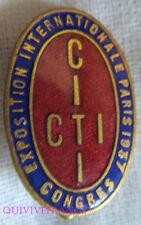 IP884 - INSIGNE Conf. Internationale des Travailleurs Intellectuels 1937 PARIS