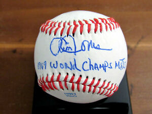 CLEON JONES 1969 WORLD CHAMPS NEW YORK METS OF'ER SIGNED AUTO OL BASEBALL JSA