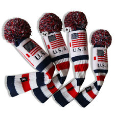 4pcs Knit Headcovers Pom Pom Golf for Taylormade Callaway 1/3/5/X Dr Fw Ut Cover