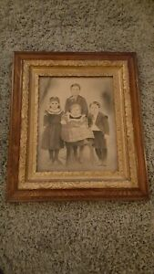 """Antique 1920s 1930s ornate Frame painting picture wood  26"""" x 30"""" RARE"""