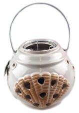 Large White Ceramic Shell Design Tea Light Storm Lantern - Candle Holder