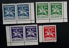 SCARCE 1949 Sweden lot of 7 Stamp Day Cinderella stamps MNG