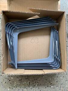 10 Shelf Brackets Crompton Grey 5 x 6