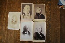 Five Henry Ward Beecher, CDV cards